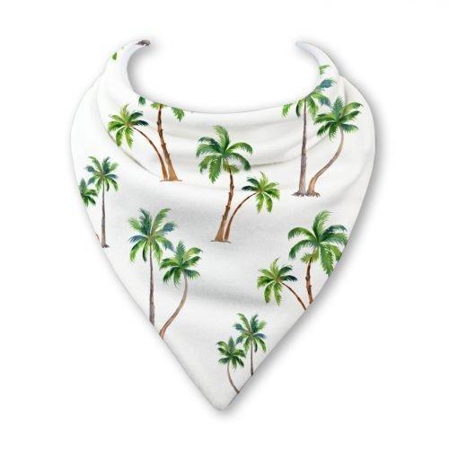 palm tree bandana bib